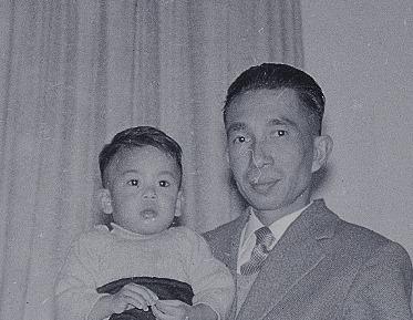Reggie Baay met vader